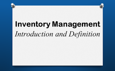 Inventory Introduction and Definition