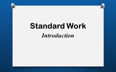 Standard Work Introduction