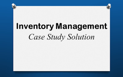Inventory Case Study Solution