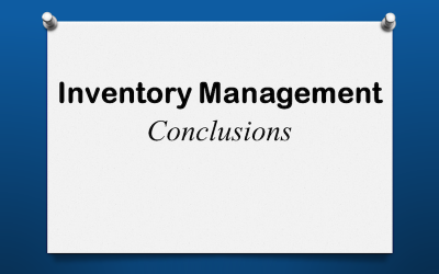 Inventory Management Conclusions