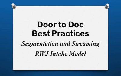 Door to Doc: RWJ Intake Model