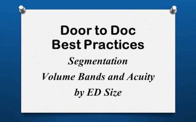 Door to Doc: Volume Bands and Acuity by ED Size