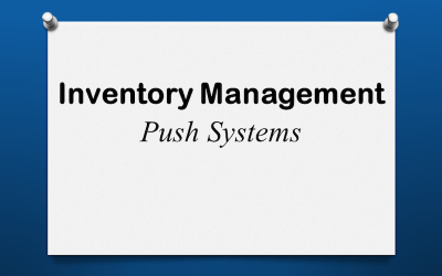 Inventory Push Systems