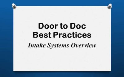 Door to Doc: Intake Systems Overview