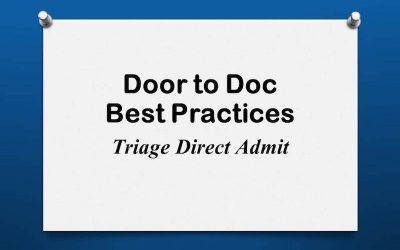 Door to Doc: Triage Direct Admit