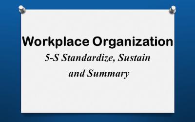 5-S Standardize Sustain Summary
