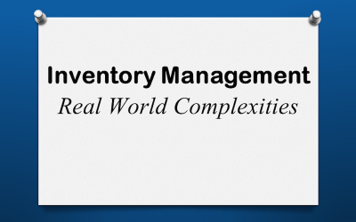 Inventory Real World Complexities